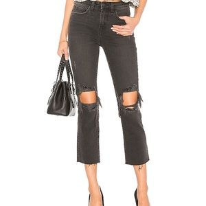 New L' AGENCE Audrina Straight Leg Jean In Vintage